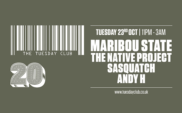 Tuesday 23rd October: Maribou State (DJ Set)