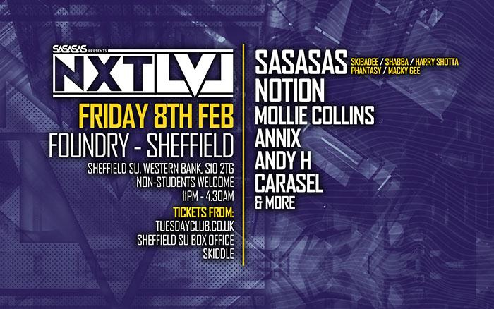 Friday 8th Feb: SASASAS Presents NXTLVL