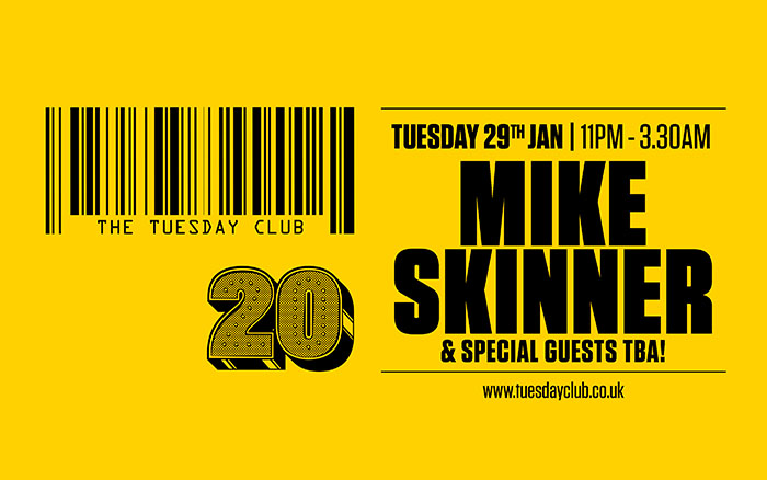 Tuesday 29th Jan: Mike Skinner & Special Guests TBA!